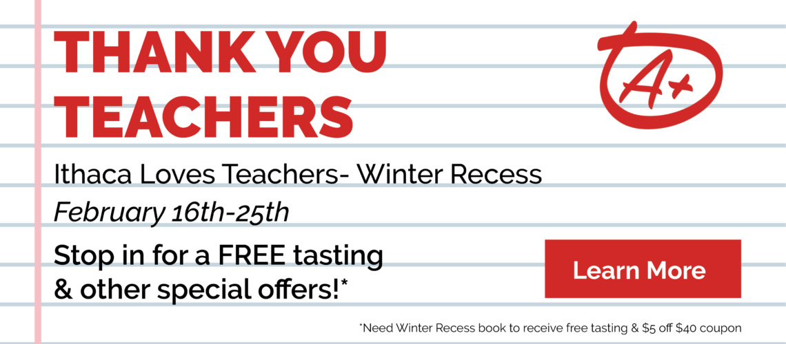 Ithaca Loves Teachers Winter Recess