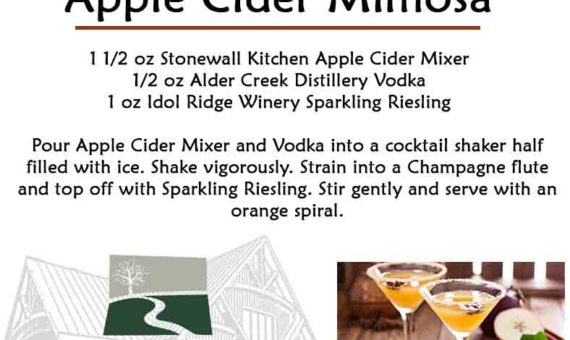 Apple Cider Mimosa – October Cocktail of the Month